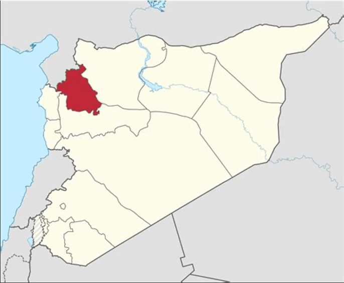 Location of Idlib in Syria